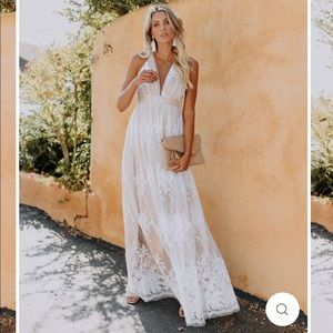 Vici dolls - ANTONIA MAXI DRESS - WHITE
